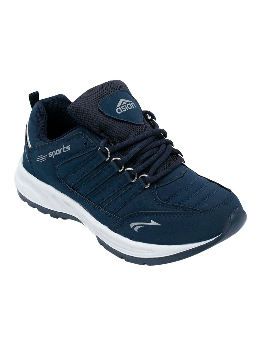 Buy online Navy Leatherette Sport Shoe