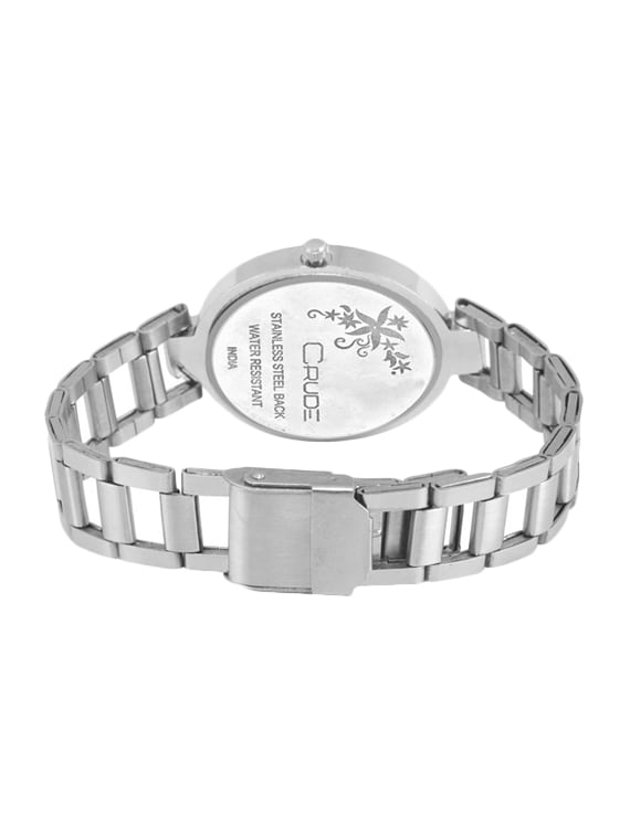 97b6ec6a1 Crude Rg2039 Silver Chain Black Dial Watch For Women