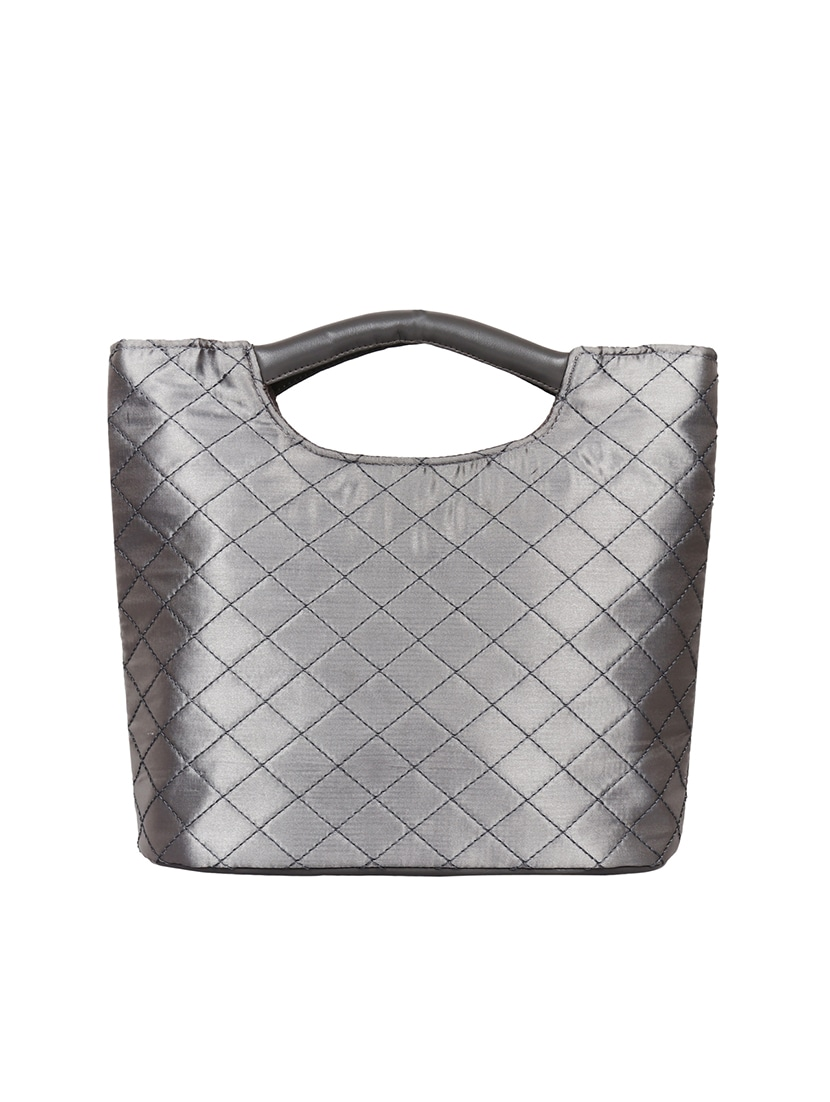 58a96d246f45 Buy Silver Satin Hobo Handbag by Anekaant - Online shopping for Handbags in  India