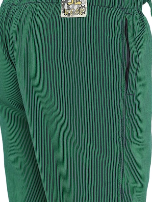 green cotton pyjama - 15402551 - Standard Image - 4