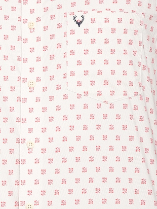 pink cotton blend casual shirt - 15410576 - Standard Image - 4