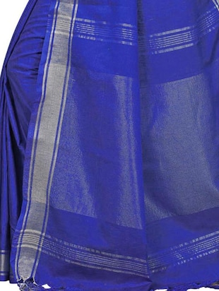 Linen maheshwari saree with blouse - 15410847 - Standard Image - 4