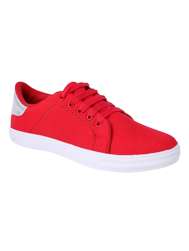 red lace-up sneakers - 15413089 - Standard Image - 1