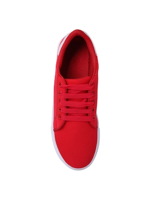 red lace-up sneakers - 15413089 - Standard Image - 4