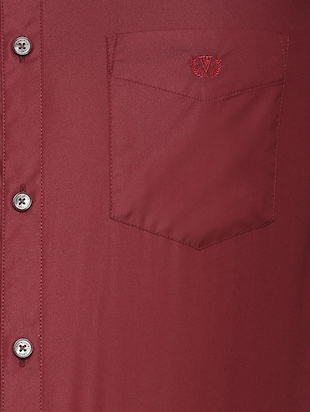 maroon cotton blend formal shirt - 15413115 - Standard Image - 4