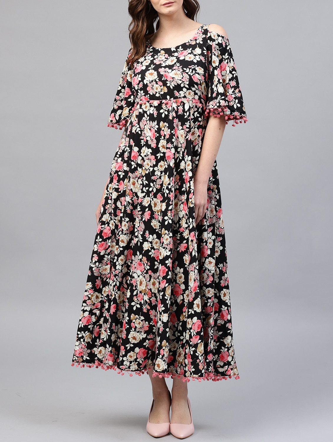 3cbbcf32f9b Buy Cold Shoulder Floral Maxi Dress for Women from Gerua for ₹899 at 40% off