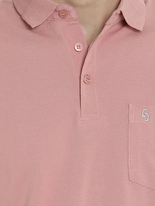 pink cotton pocket  t-shirt - 15414725 - Standard Image - 4