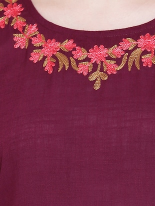 Asymmetric embroidered kurta - 15416710 - Standard Image - 4