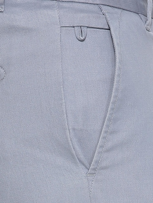 grey cotton blend chinos casual trouser - 15417466 - Standard Image - 4