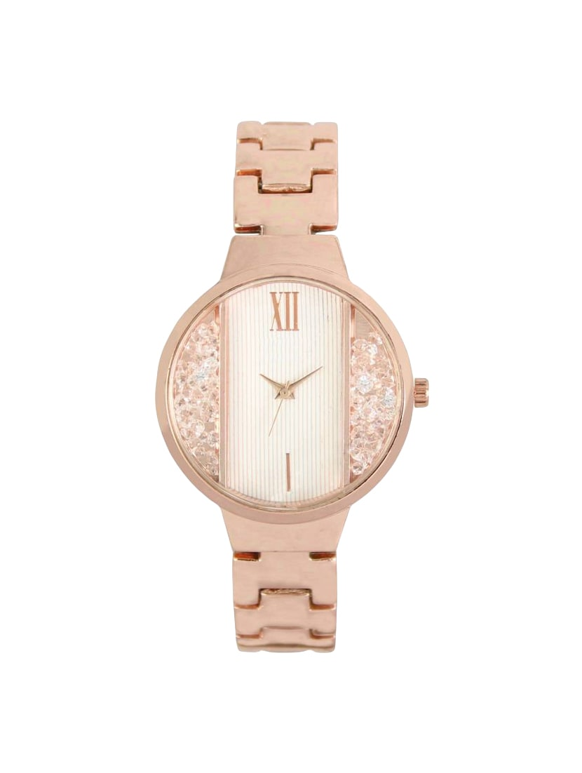 Eddy Hager Rose Gold Dial Women's Watch