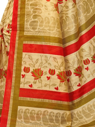 Floral bhagalpuri saree with blouse - 15420161 - Standard Image - 4