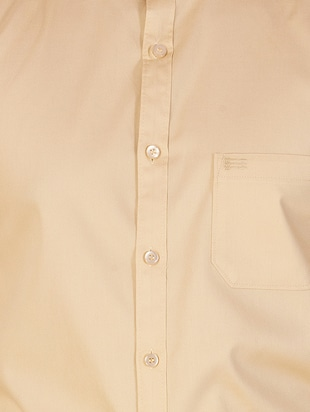 beige cotton casual shirt - 15420407 - Standard Image - 4