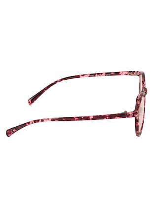 Arzonai Oval Maroon-Transparent UV Protection Eyeglasses [MA-400-S4 ] - 15420527 - Standard Image - 4