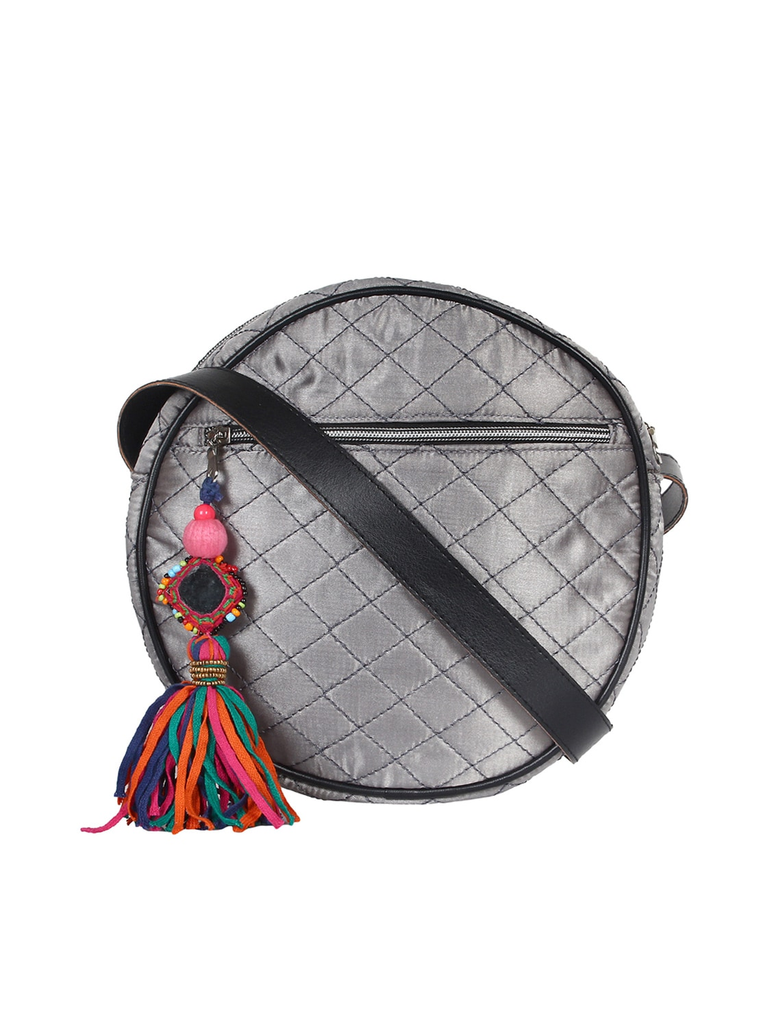5ed28ae059c7 Buy Silver Satin Messenger Sling Bag by Anekaant - Online shopping for  Sling Bags in India