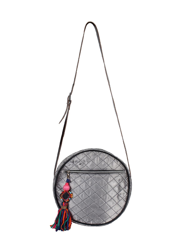 8fd4920ad64f ... silver satin messenger sling bag - 15421032 - Zoom Image - 4