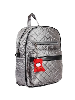 silver satin fashion backpack - 15421037 - Standard Image - 4