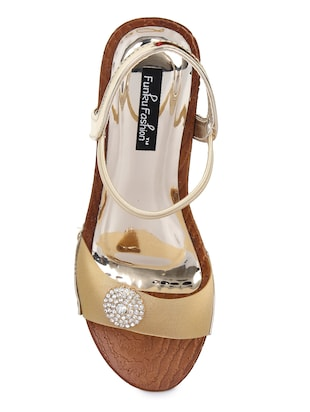 gold back strap wedges - 15425815 - Standard Image - 4