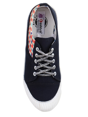 blue lace-up sneakers - 15430012 - Standard Image - 4