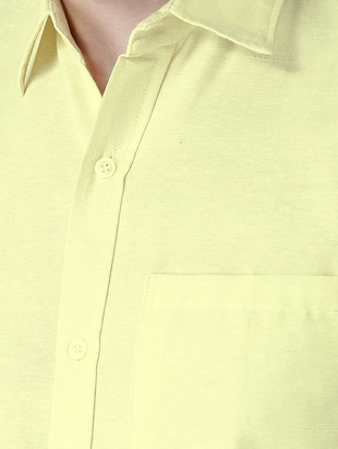 yellow khadi cotton formal shirt - 15436250 - Standard Image - 4