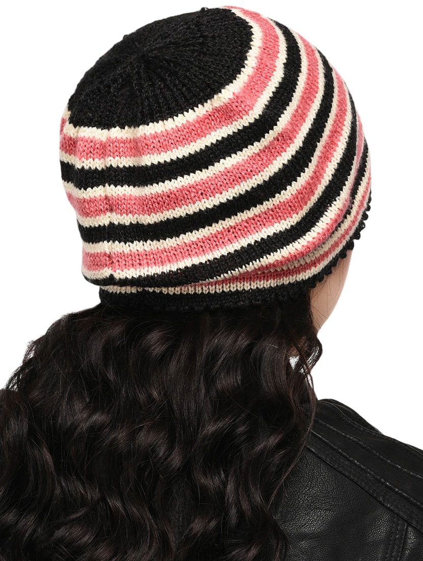 Buy Striped Woolen Cap by Vr Designers - Online shopping for Caps in India   d8a04b7ca8d