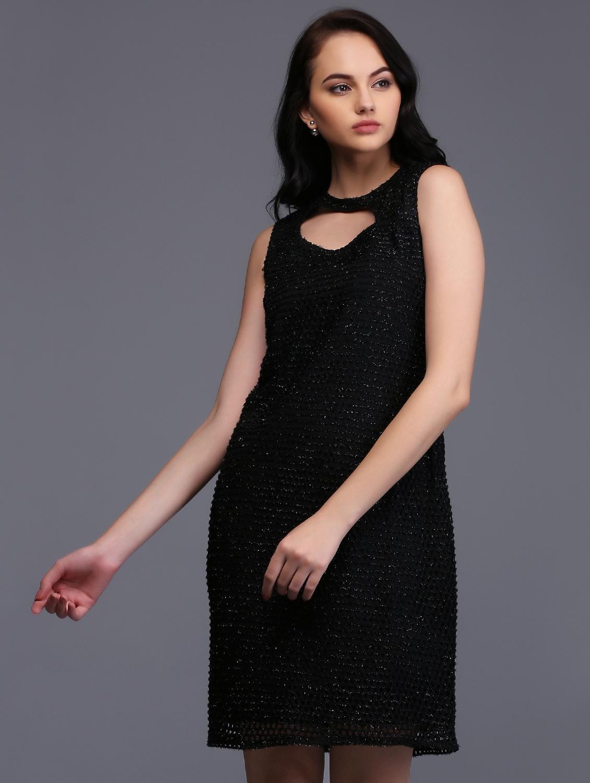 43d76268 Black Shimmer Dress Online India - raveitsafe