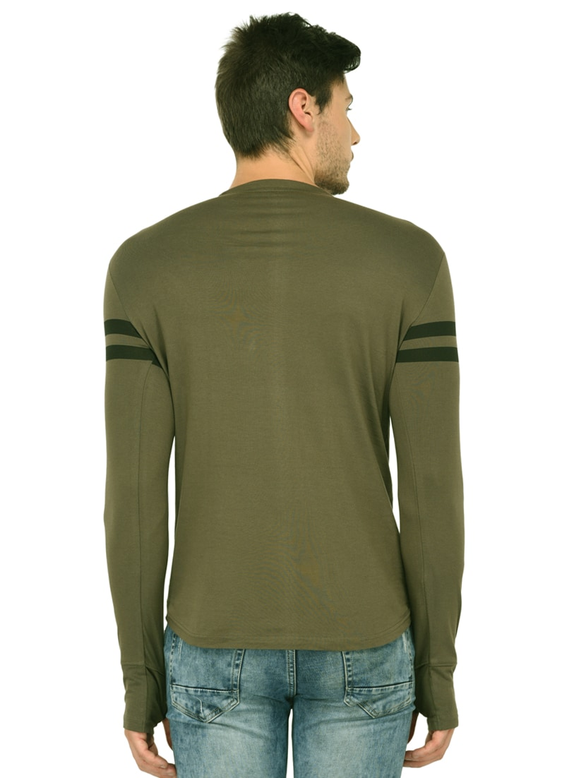 c42dedf62 Buy Olive Green Cotton Thumb Hole T-shirt for Men from Trends Tower for  ₹350 at 65% off | 2019 Limeroad.com