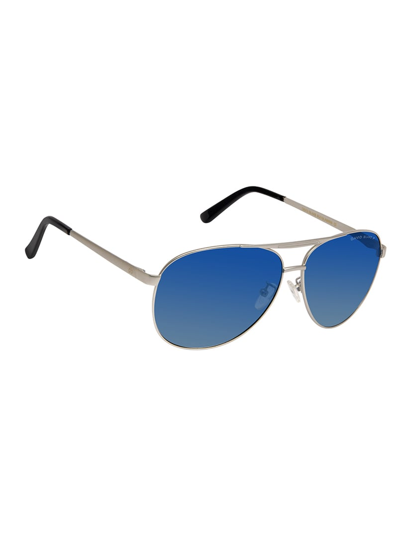 baf03a3773e Buy David Blake Blue Aviator Gradient Polarized Uv Protection Sunglass by David  Blake - Online shopping for Sunglasses in India