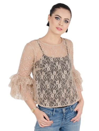 a3e25be7a1ecf Buy Set Of 2 Multicolored Net Tops for Women from Jollify for ₹730 at 57%  off