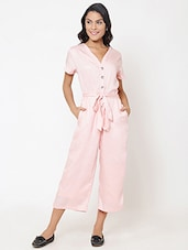 b27c38841fc Buy Animal Print Dusky Pink Jumpsuit for Women from Se Deplace for ...