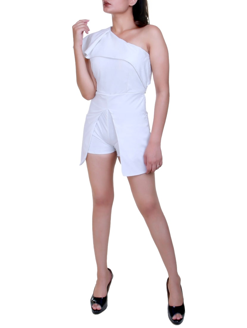 ccfeeb8b32f Buy Single Shoulder Layered Romper by Urs - Online shopping for Jumpsuits in  India
