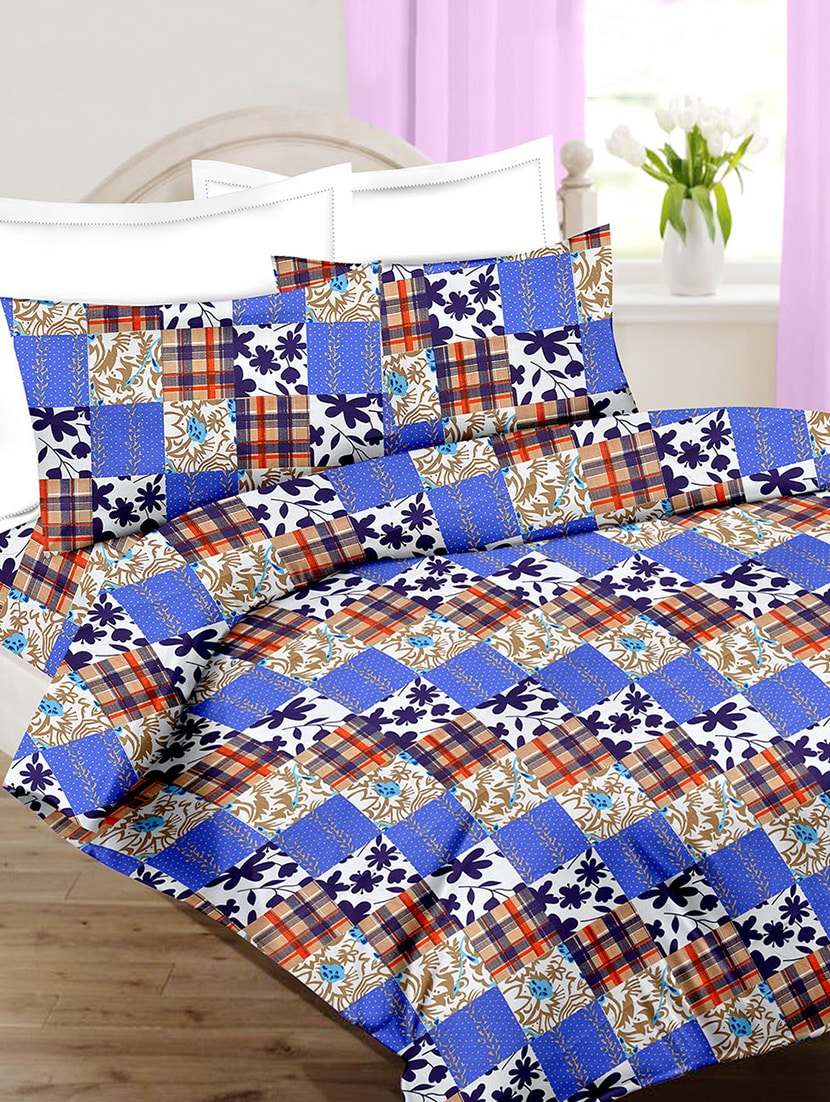 Buy Cotton Printed Single Bed Sheet With 2 Pillow Covers By Minu Bedsheets    Online Shopping For Bed Sheet Sets In India | 15462824