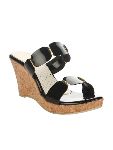 c55b038855a5 Buy Kielz-black-wedge-sandals for Women from Kielz for ₹796 at 47 ...