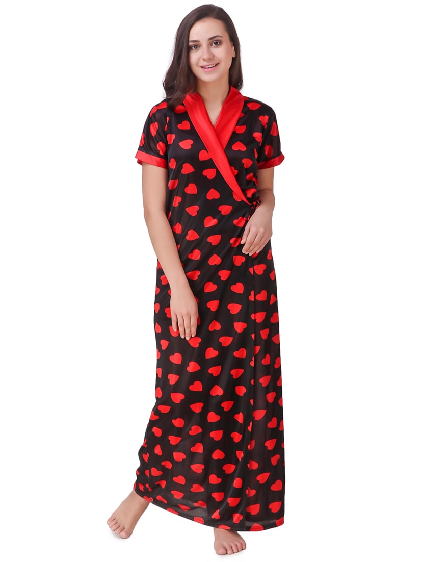 04b190f97a Buy Printed Sleepwear Robe   Pajama Set by Afw Women - Online shopping for  Nightwear Sets in India