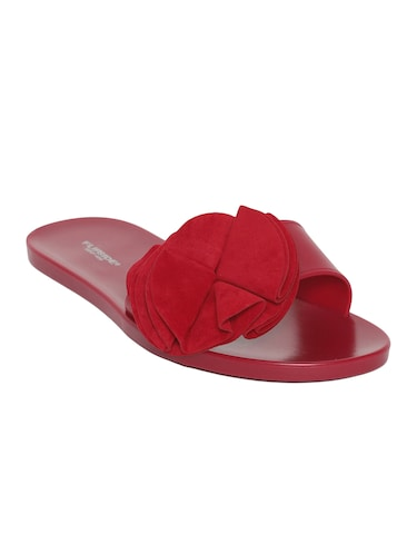 maroon slip on sandals - 15465595 - Standard Image - 1