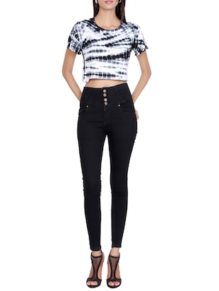high waist denim jeans - 15467203 - Standard Image - 4