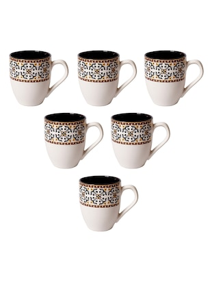 Set of 6 Ceramic Tea & Coffee Mugs - 15477063 - Standard Image - 4