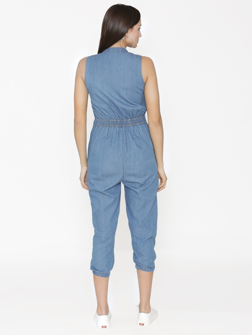 9c7c6dd0c37c Buy Pocket Patch Denim Jumpsuit for Women from Eyelet for ₹781 at 51% off