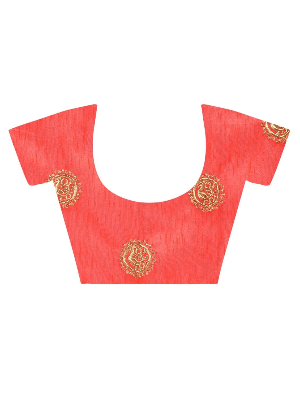 781418916d4ab ... tassels pallu plain orange saree with blouse - 15482347 - Zoom Image - 4