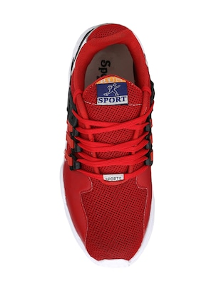 red Mesh sport shoes - 15483103 - Standard Image - 4