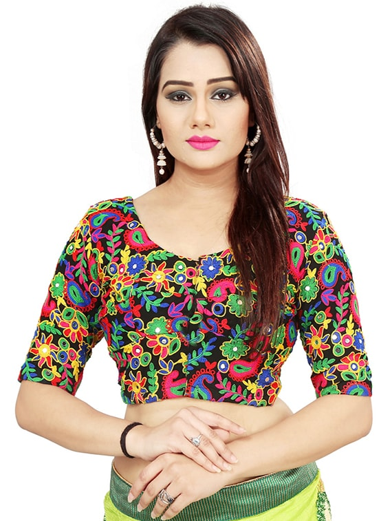 3723313fd05ef5 Buy Multi Thread Embroidered Blouse for Women from Dhandai Fashion for ₹999  at 60% off