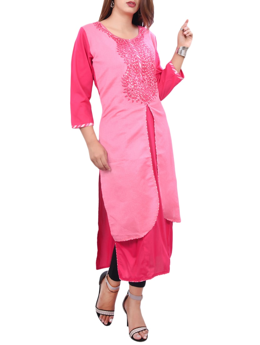 802561b6018 Buy Mirror Work Layered Kurta for Women from Vedana for ₹735 at 51% off