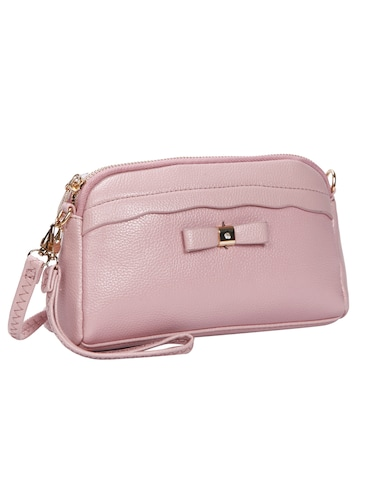pink leatherette (pu) regular sling bag - 15491138 - Standard Image - 1