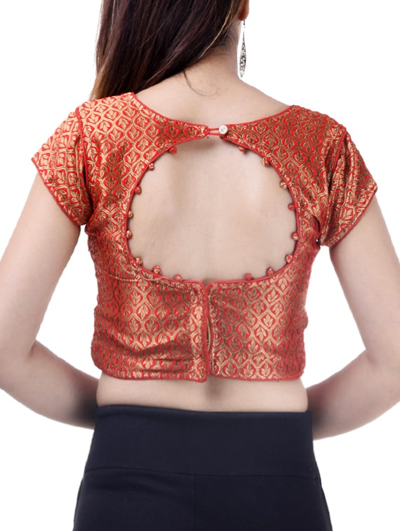 a5e7228839b275 Buy Red Silk Brocade Blouse for Women from Ridhi Sidhi Creations for ₹969  at 76% off