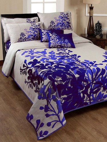 Cotton Printed Bedcover with 2  Pillow Covers - 15495035 - Standard Image - 1