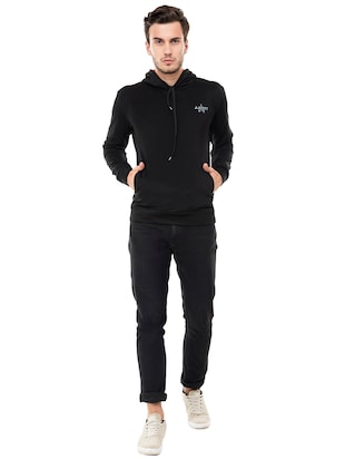black fleece sweatshirt - 15495540 - Standard Image - 4