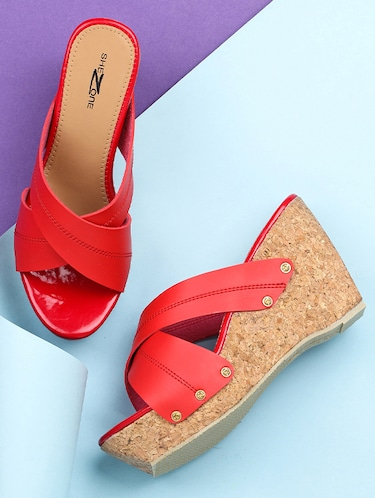 f5b5fedd7 Buy Kielz-red-wedge-sandals for Women from Kielz for ₹796 at 47 ...