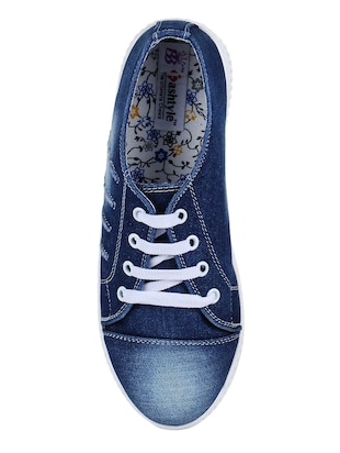 blue lace-up sneakers - 15500144 - Standard Image - 4