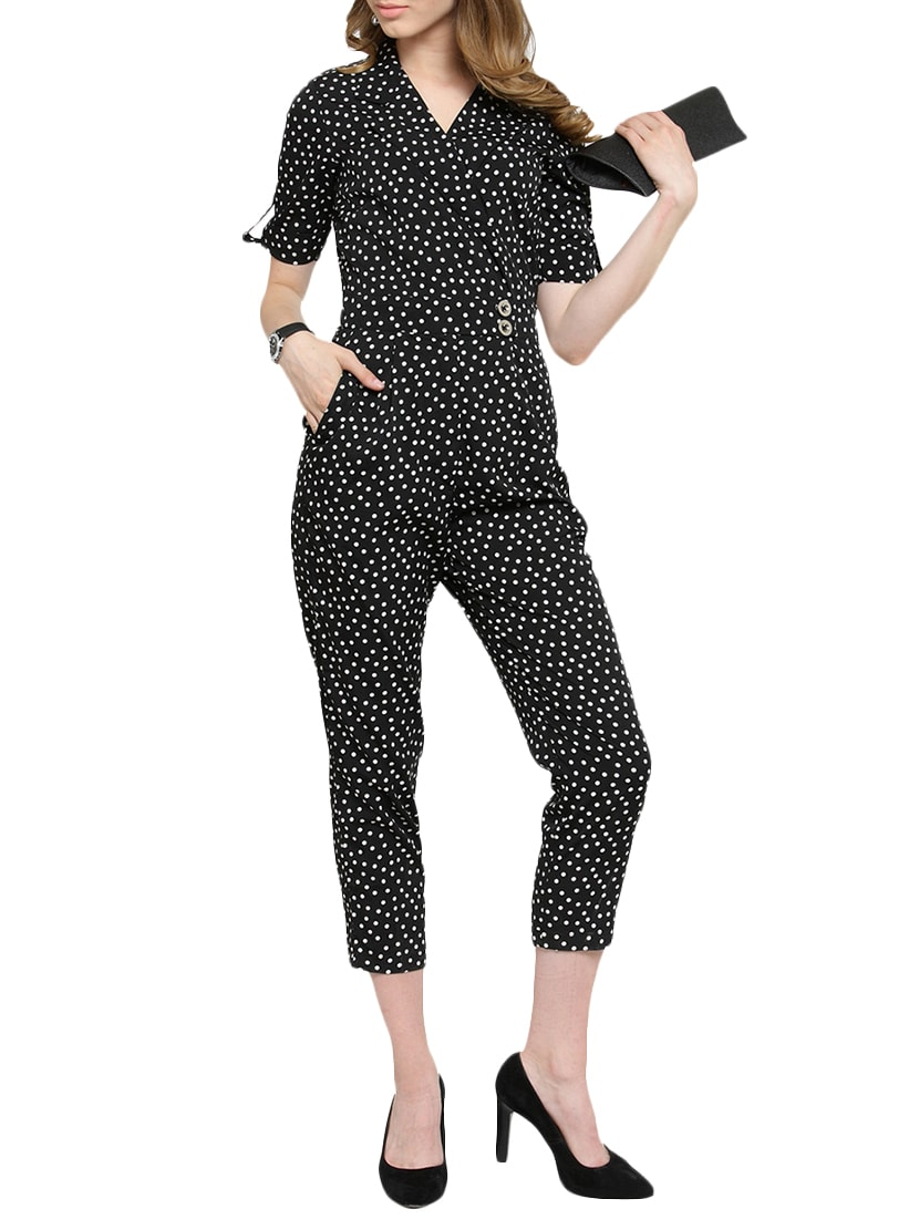 35c51b963af Buy Polka Dot Wrap Jumpsuit by Magnetic Designs - Online shopping for  Jumpsuits in India