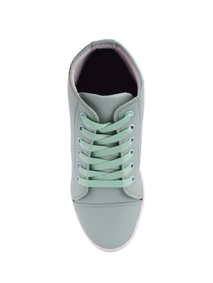 blue lace-up sneakers - 15505697 - Standard Image - 4