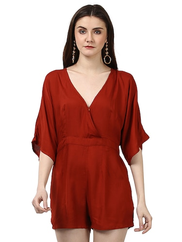 00e89b6150a5 Buy Solid White Romper Jumpsuit for Women from Oxolloxo for ₹989 at ...